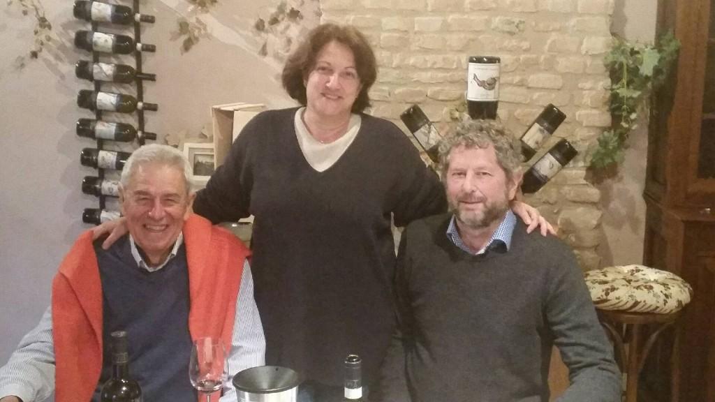 På besøk hos Cascina Montagnola. Donatella og mannen Bruno.