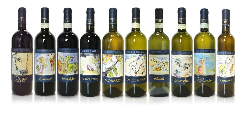 De fleste av Cascina Montagnolas viner.